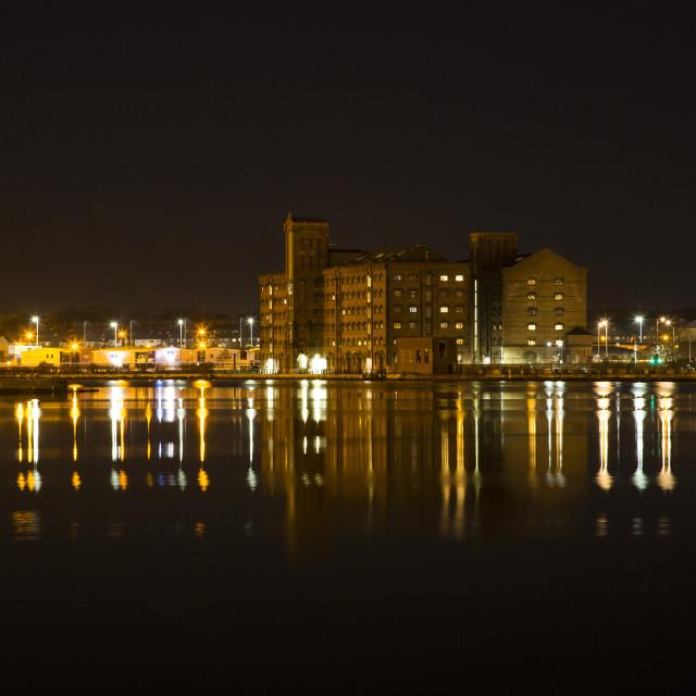 """Birkenhead Docks"" stock image"
