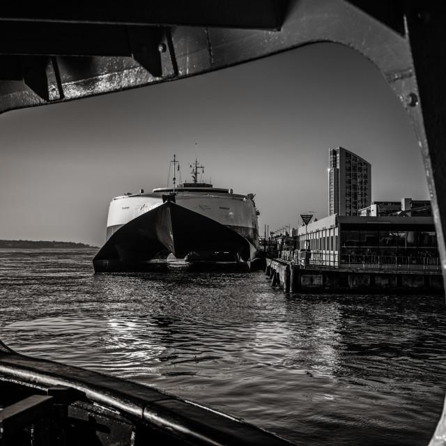 """Liverpool docks"" stock image"