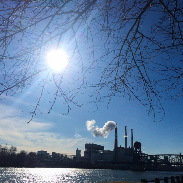 """""""Power plant in Long Island City, Queens."""" stock image"""