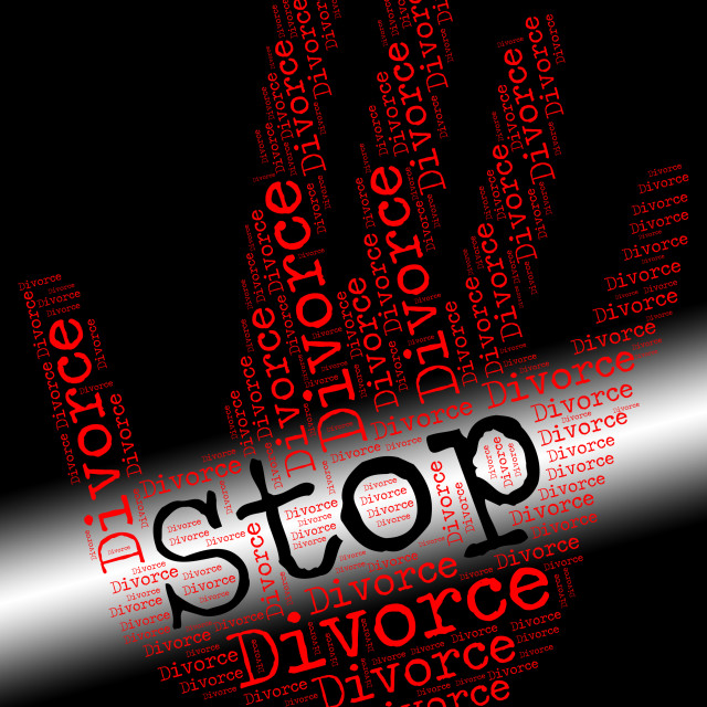"""Stop Divorce Indicates Warning Sign And Annulments"" stock image"