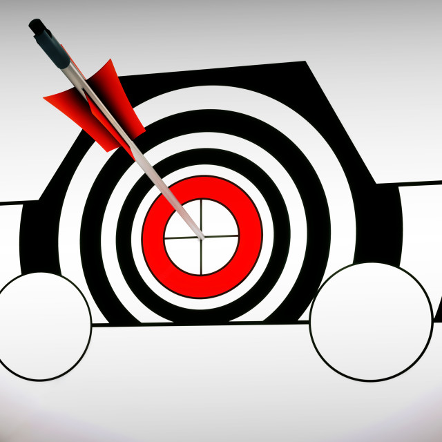 """""""Car Target Shows Excellence And Accuracy"""" stock image"""