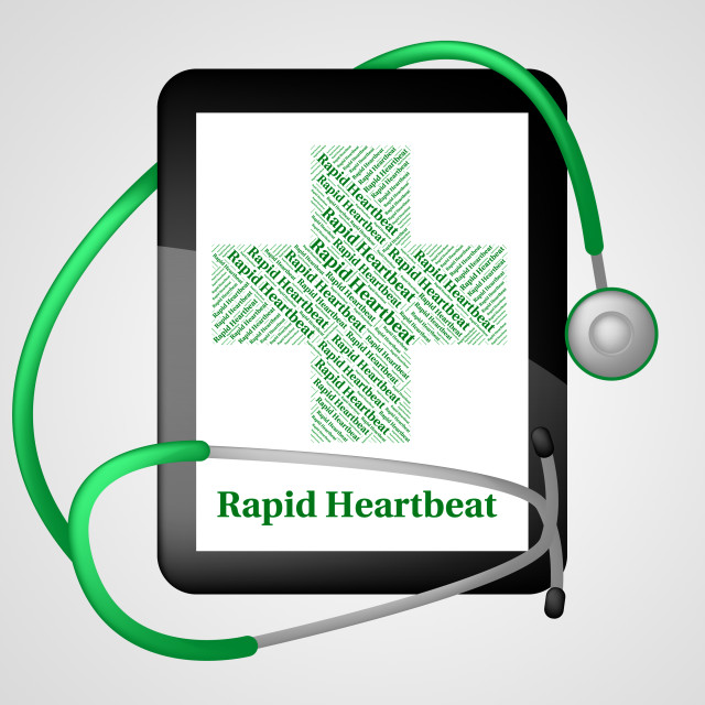 """Rapid Heartbeat Indicates Ill Health And Disease"" stock image"