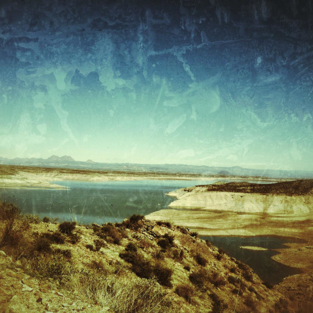 """San Carlos lake Arizona low from draught"" stock image"
