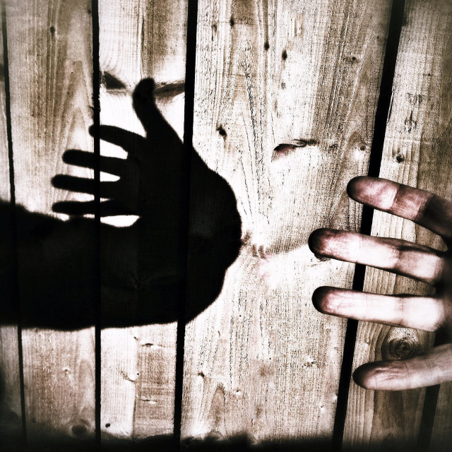 """""""Sinister hand"""" stock image"""