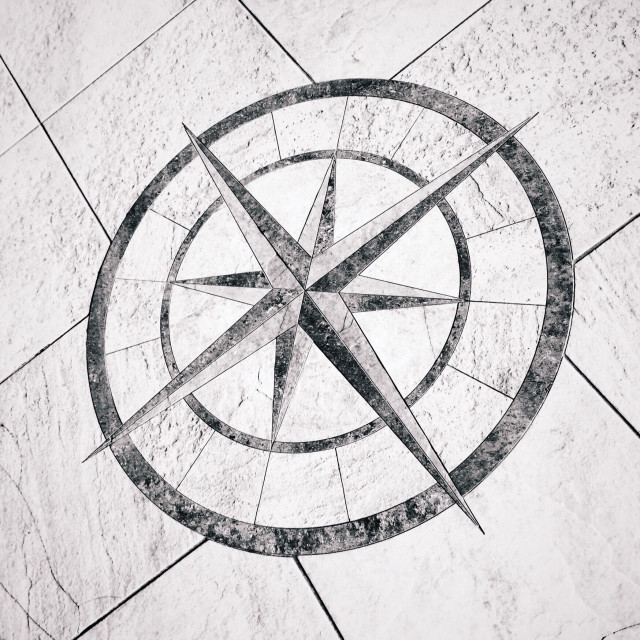 """Compass points"" stock image"