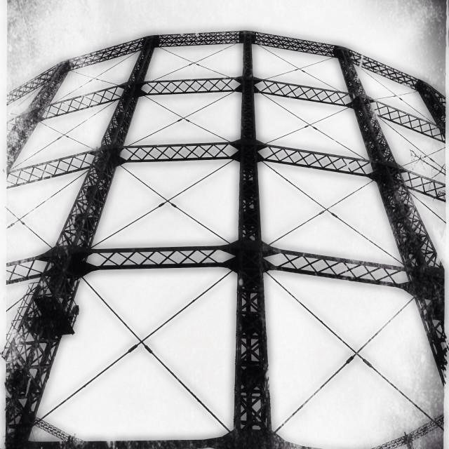 """Gasometer, Kensal Green, London, UK"" stock image"