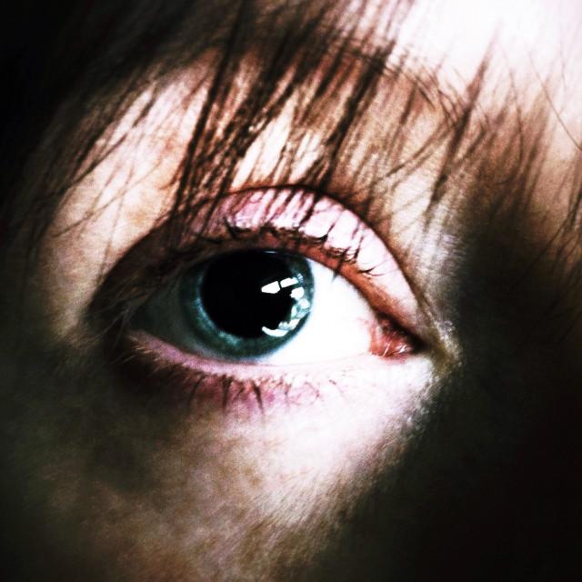 """Sinister eye"" stock image"