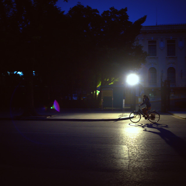 """An early morning in Hanoi"" stock image"