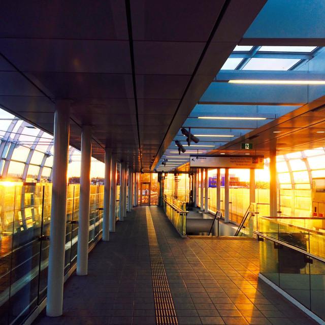 """""""Station sunrise"""" stock image"""