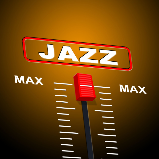 """""""Music Jazz Means Sound Track And Audio"""" stock image"""