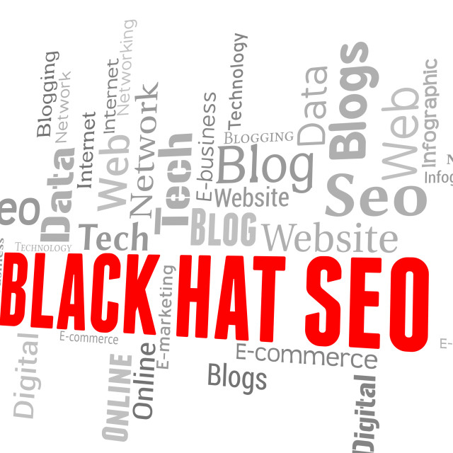 """""""Black Hat Seo Means Search Engines And Online"""" stock image"""