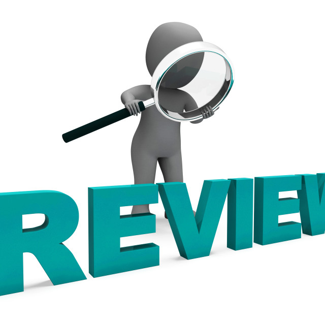 """Review Character Shows Assess Reviewing Evaluate And Reviews"" stock image"