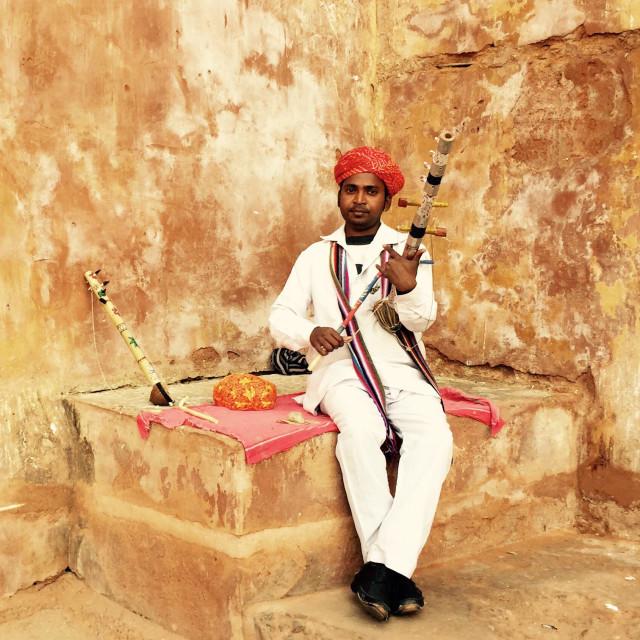 """Local Rajasthani Musician!!!"" stock image"