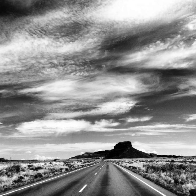 """Road to Navajo."" stock image"