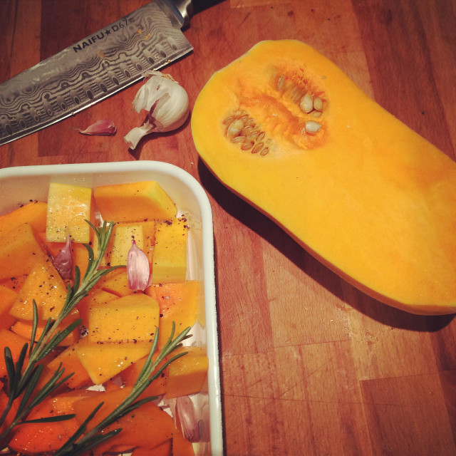 """Baked Squash dinner idea"" stock image"