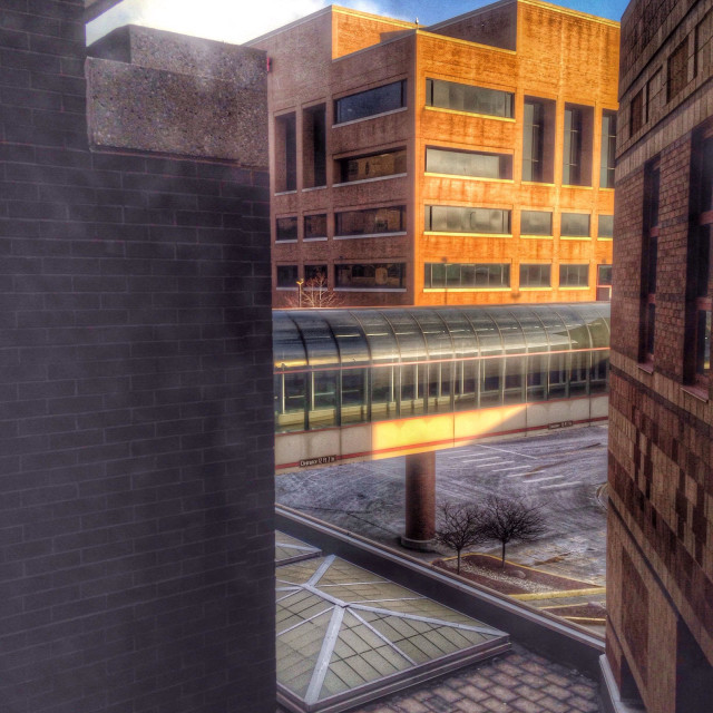 """""""Architectural scene from a window."""" stock image"""