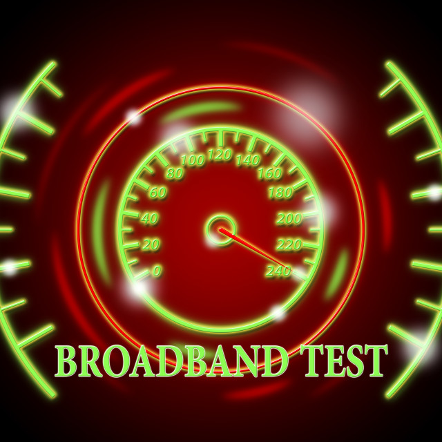 """Broadband Test Shows Net Display And Quicker"" stock image"