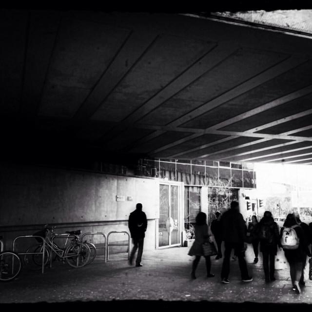 """""""Underneath Wood Lane railway bridge, White City, London Borough of Hammersmith & Fulham, West London, England, United Kingdom, Europe"""" stock image"""