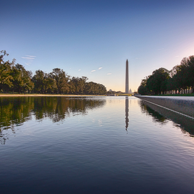"""Morning at the Monument"" stock image"