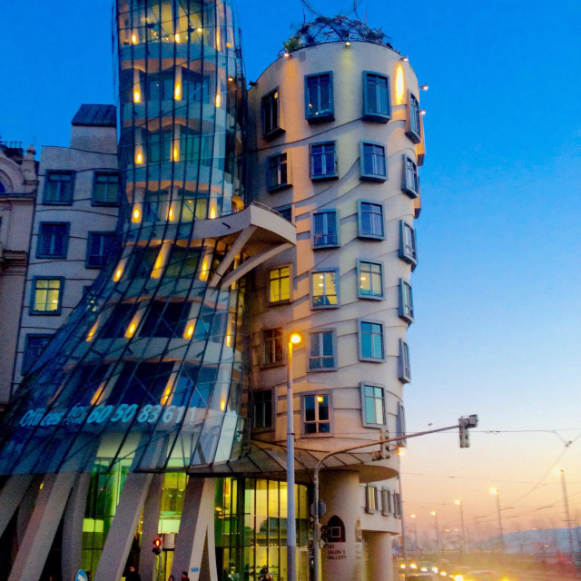 """Dancing House in Prague"" stock image"