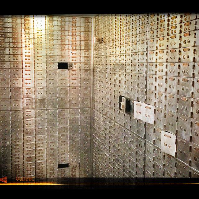 """Safety deposit boxes"" stock image"