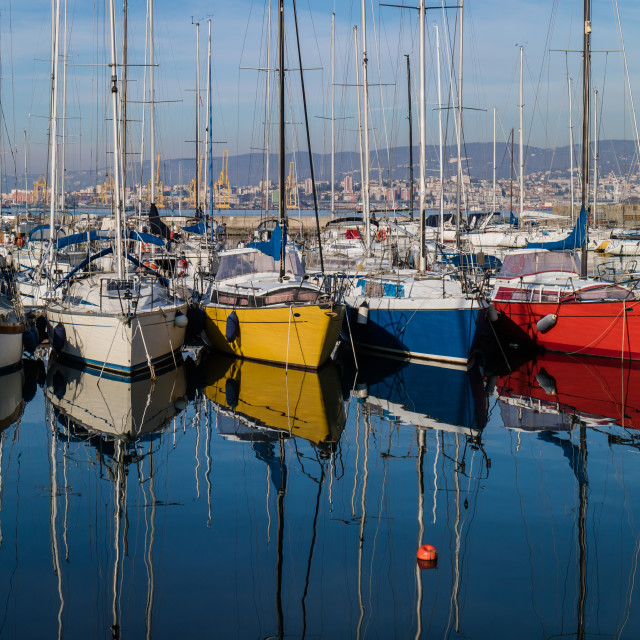 """Colorful boats"" stock image"