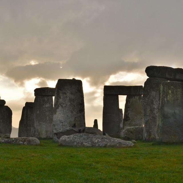 """Stonehenge Winter Solstice."" stock image"