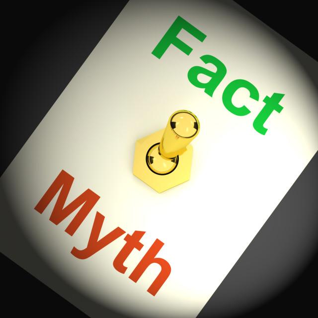"""Fact Myth Switch Shows Correct Honest Answers"" stock image"