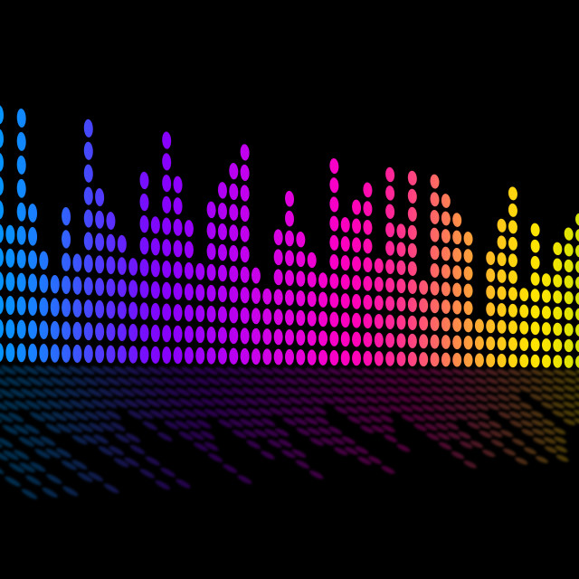 """""""Digital Music Beats Background Shows Music Soundtrack Or Sound Pulse."""" stock image"""