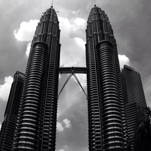 """The Petronas Towers in Kuala Lumpur"" stock image"