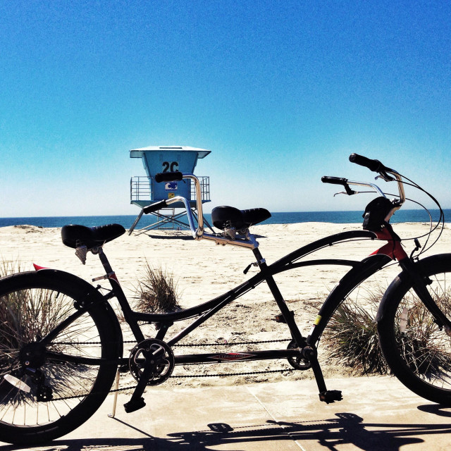 """Tandem on Catalina"" stock image"