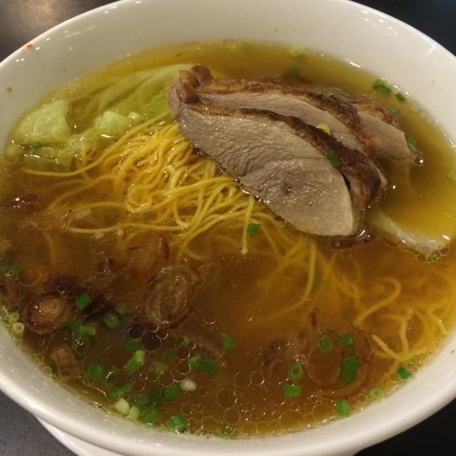 """""""Roast Duck Noodle Soup"""" stock image"""