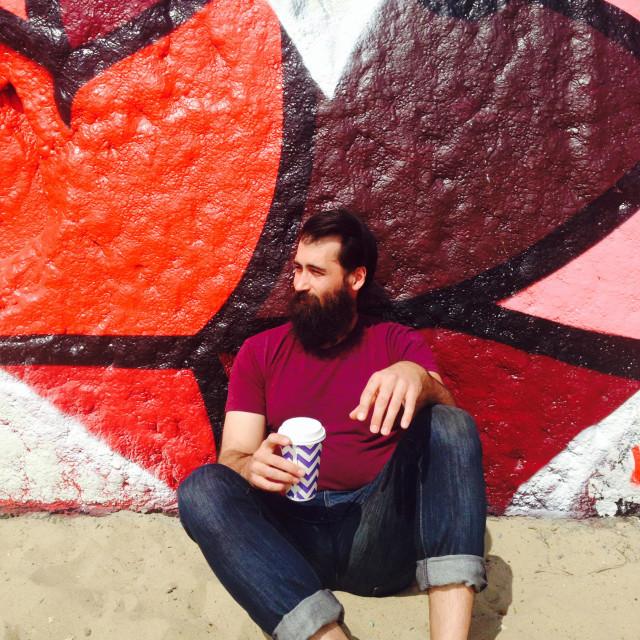 """""""Loved Street Art"""" stock image"""