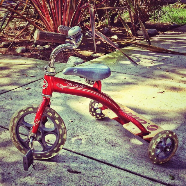 """""""Red Tricycle"""" stock image"""