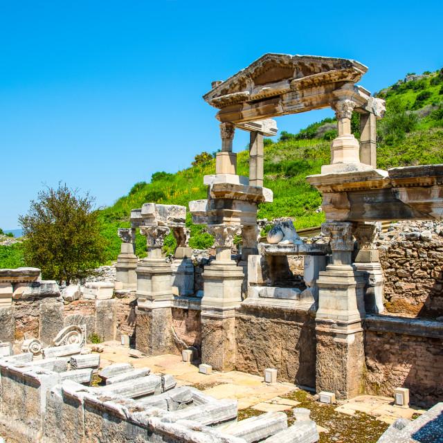 """Trajan Fountain"" stock image"