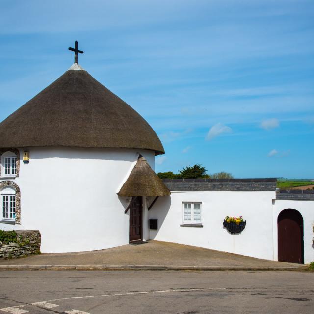 """Veryan Cornwall"" stock image"