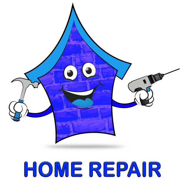 """Home Repair Represents Mending House And Building"" stock image"