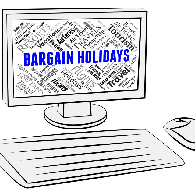 """""""Bargain Holidays Shows Pc Discounts And Computer"""" stock image"""