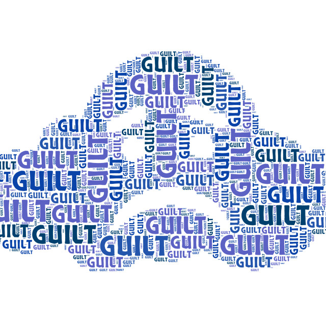 """""""Guilt Word Means Guilty Feelings And Pangs"""" stock image"""
