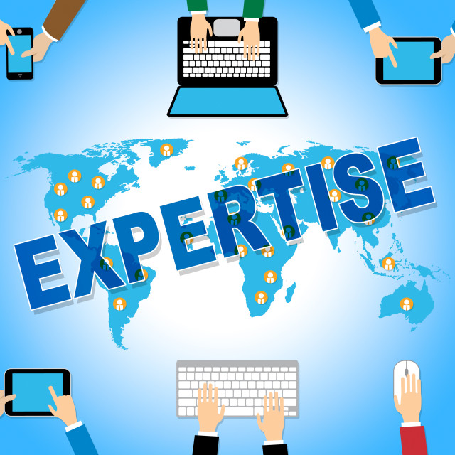 """Business Expertise Represents Skill Web And Corporation"" stock image"