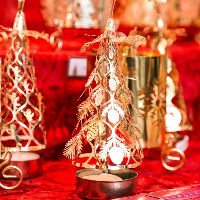 """Christmas candles"" stock image"