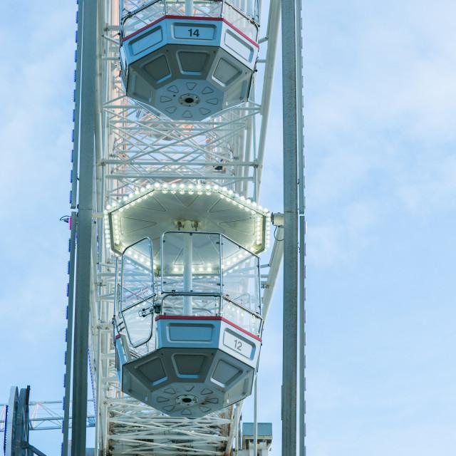 """Gondolas on the Big Wheel"" stock image"