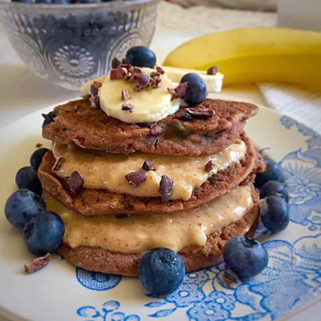"""""""Gluten free pancakes"""" stock image"""