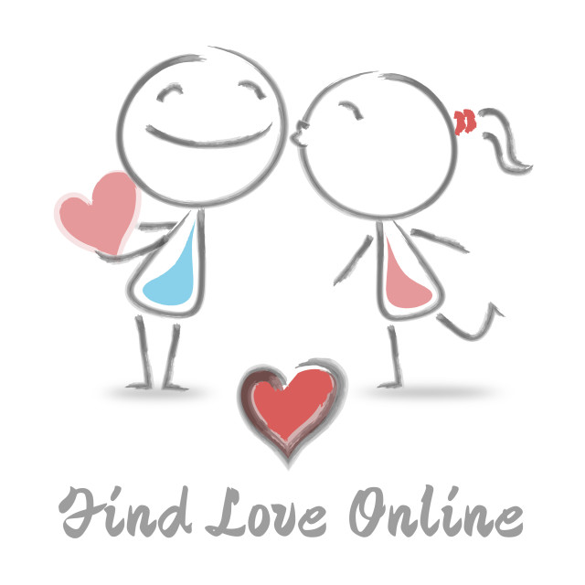 """""""Find Love Online Means Dating Websites Search"""" stock image"""