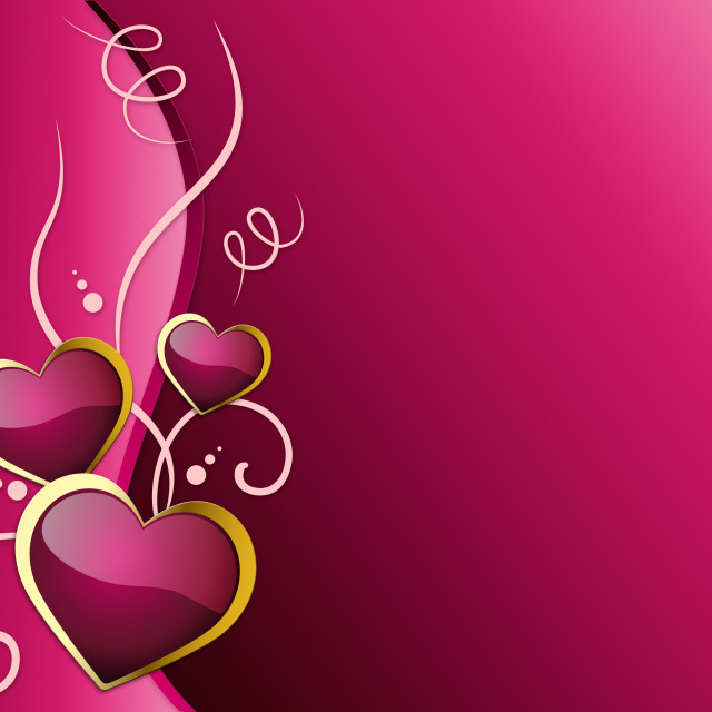 """Hearts Background Shows Romantic And Passionate Love."" stock image"