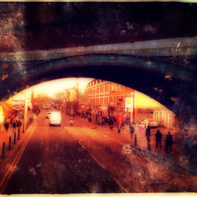 """The Metropolitan Railway viaduct, Kilburn High Road, London, England, United Kingdom, Europe"" stock image"