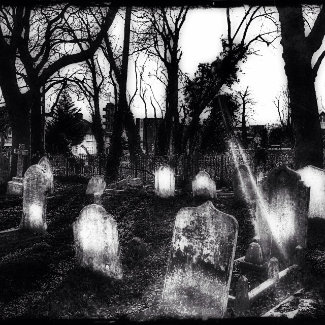 """Church graveyard, Wembley, London Borough of Brent, North West London, England, United Kingdom, Europe"" stock image"