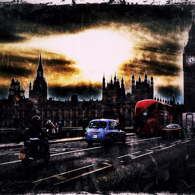 """""""Westminster bridge road showing Big Ben and the Houses of Parliament, City of Westminster, Central London, England, United Kingdom, Europe"""" stock image"""