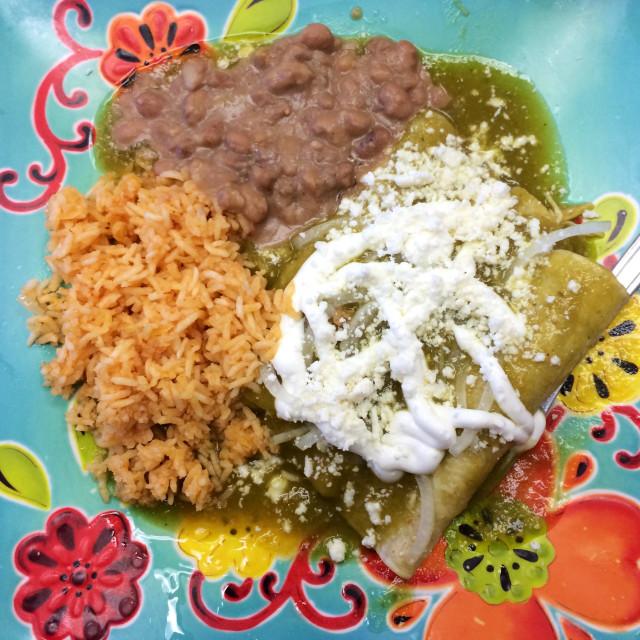"""Enchiladas Verde"" stock image"