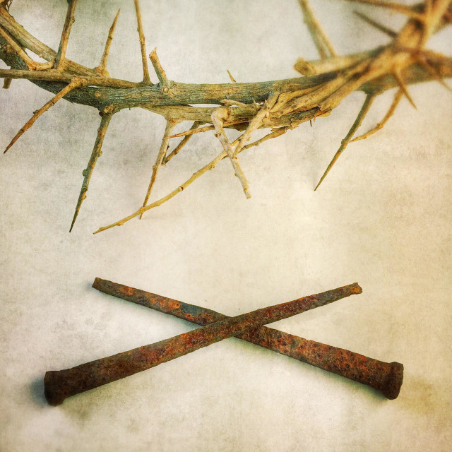 """""""Crown of thorns with nails."""" stock image"""